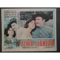 Antonio Aguilar Flor Silvestre Alma Llanera Cartel De Cine