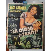Poster Original La Diosa De Tahiti Rosa Carmina Juan Orol 53