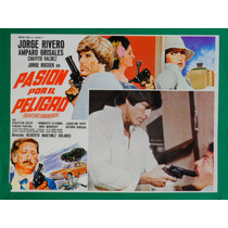Jorge Rivero Pasion Por El Peligro Original Cartel De Cine