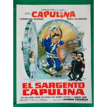 Capulina El Sargento Capulina Policia Original Cartel D Cine