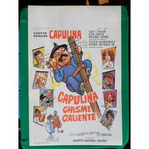 Capulina Chisme Caliente Original Cartel De Cine Poster