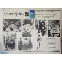 Poster Original Charles Chaplin Tributo Por Su Nacimiento100