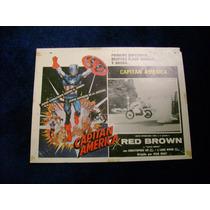 Capitan America Red Brown Lobby Card Cartel Poster B