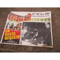 Antiguo Lobby Card Un Sucio Negocio Cartel De Cine!