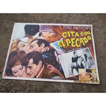 Antiguo Lobby Card Cita Con El Pecado Cartel De Cine!