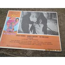 Antiguo Lobby Card Chuck Norris En Octagon Cartel De Cine!