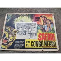 Antiguo Lobby Card Safari En El Congo Negro Cartel De Cine!