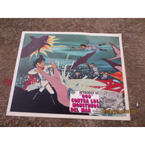 Lobby Card Astroboy Los Monstruos D Mar Cartel Cine Mexicano