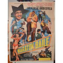Poster Original Maraton De Baile Luis Aguilar Ninon Sevilla