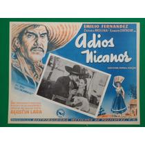 Emilio El Indio Fernandez Adios Nicanor Cartel De Cine