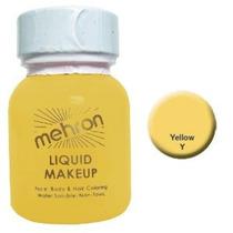 Mehron Liquid Face Pinturas - Amarillo Y (1 Oz)