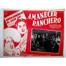Cartel Amanecer Ranchero Ramón Armengod Maria Luisa Zea 1942