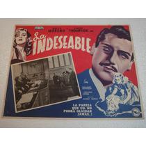 Cartel La Indeseable Zully Moreno Carl Thompson Soffici 1951