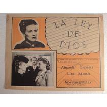 Cartel Contra La Ley De Dios Amanda Ledesma Lina Montes 1949