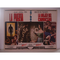 La Puerta Y La Mujer Del Carnicero,2 Cuentos De Miedo,cartel