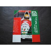 Ayrton Senna Gran Premio De Mexico 1991 F1 Poster Cartel