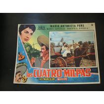 Las Cuatro Milpas Maria Antonieta Pons Lobby Card Cartel