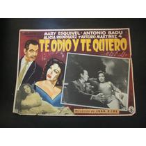 Te Odio Y Te Quiero Mary Esquivel Lobby Card Cartel Poster