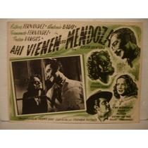 Antonio Badu , Ahi Vienen Los Mendoza ,cartel ( Lobby Card )