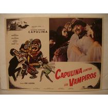 Capulina Contra Los Vampiros , Cartel ( Lobby Card )