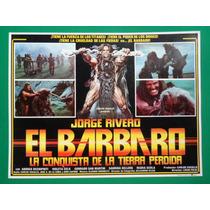 Jorge Rivero El Barbaro Lucio Fulci Original Cartel De Cine