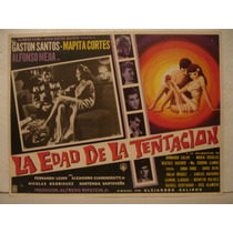 Gastón Santos, La Edad De La Tentación , Cartel De Cine