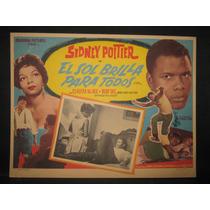 Sidney Poitier, El Sol Brilla Para Todos Cartel (lobby Card)