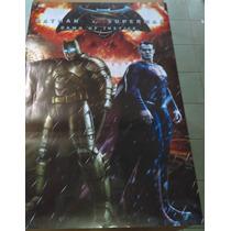 Batman Vs Superman Dawn Of Justice Poster Fisico