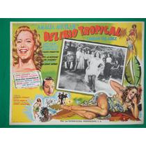 Amalia Aguilar Delirio Tropical Rumbera Orig Cartel De Cine