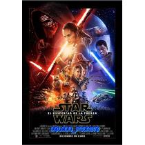 Poster De Cine Star Wars 7 El Despertar De La Fuerza Force