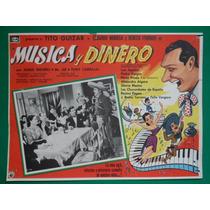 Luis Aguilar Tito Guizar Musica Y Dinero Orig Cartel De Cine