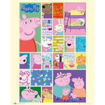 Peppa Pig Cartel - Cuadrícula Mini 40x50cm Para Niños Chil