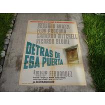 El Indio Fernández, Detrás De Esa Puerta, Poster De Cine