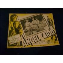 Angel Caido Rosita Quintana Lobby Card Cartel Poster