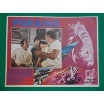 Jorge Rivero Paraiso Ofelia Medina Original Cartel De Cine