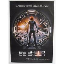 Poster Original Cine... El Juego De Ender... Doble Vista
