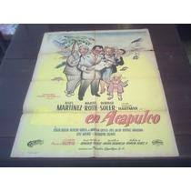 Poster Original Sucedió En Acapulco Angelica María Niña 1953