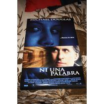 Poster Original De, Pelicula Ni Una Palabra Michael Douglas