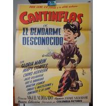 Poster Origi El Gendarme Desconocido Mario Moreno Cantinflas