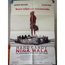 Poster Hard Candy Niña Mala Patrick Wilson Ellen Page Slade