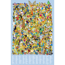 Simpsons Cartel - Cast 2012 Maxi 61x 91.5cm Cartoon Tv