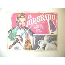 El Jorobado Jorge Negrete Lobby Card Cartel Poster A