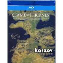 Game Of Thrones Juegos De Tronos Temporadas 1 - 3 Blu-ray