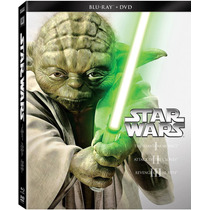 Star Wars Episodios 1, 2 , 3 , 4 , 5 , 6 Combo Blu-ray + Dvd