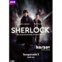 Sherlock Temporada 2 Dos , Serie Tv Discos Region 4 En Dvd