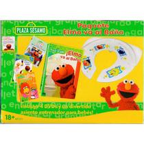 Paquete Elmo Va Al Baño Con Asiento Entrenador + 4 Dvds