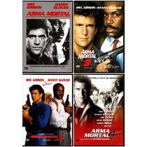 Arma Mortal Paquete 1, 2, 3 Y 4 Dvd