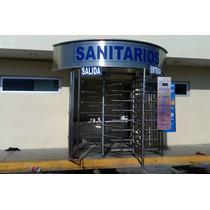 Torniquetes Control Acceso Inoxidable Baños Gasolineras