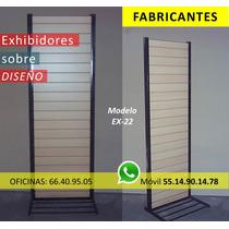Fabrica Exhibidor Panel Ranurado Isla Comercial Metálico Mdf