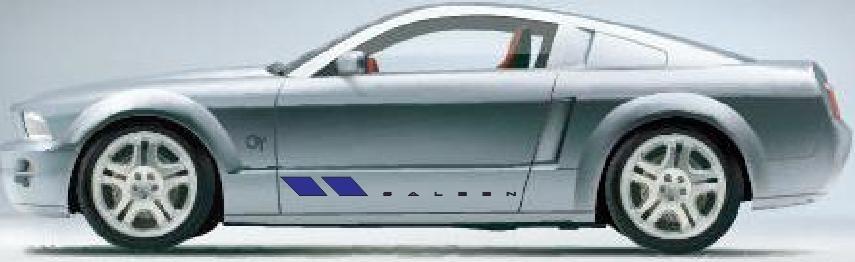 Set De Stickers Tuning Para Mustang Saleen - $ 250.00 en MercadoLibre
